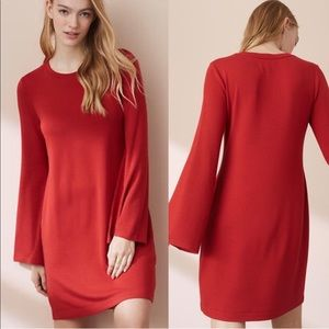 Lou & Grey red tunic dress bell sleeve